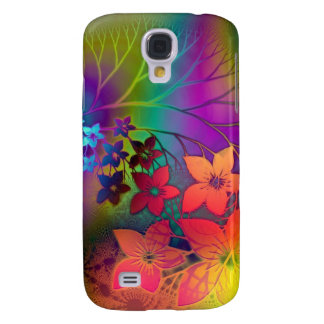 Psychedelic Floral Galaxy S4 Case