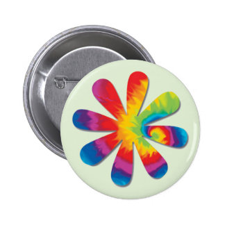 Psychedelic Flower 6 Cm Round Badge