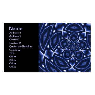 Psychedelic Flower(Blue) Pack Of Standard Business Cards