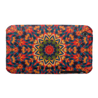 Psychedelic  Flower iPhone 3 Case