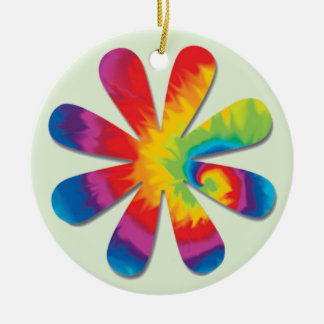 Psychedelic Flower Christmas Ornament