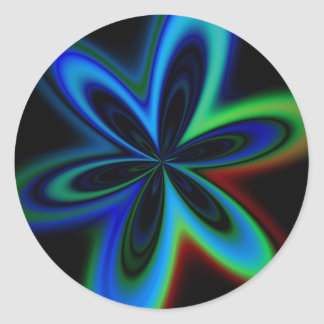 Psychedelic Flower Classic Round Sticker