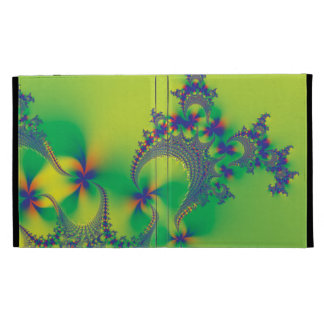 Psychedelic Flower Fractals iPad Folio Cases