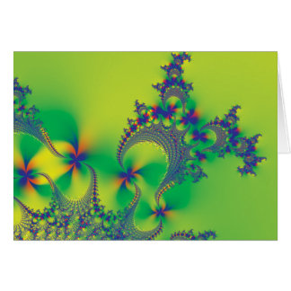 Psychedelic Flower Fractals Greeting Card