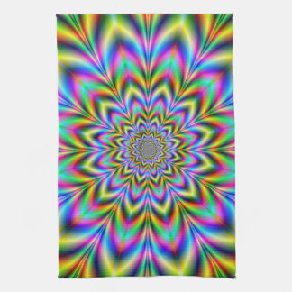 Psychedelic Flower Kitchen Towels