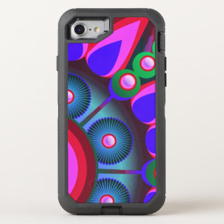 Psychedelic Flower Power Art OtterBox Defender iPhone 8/7 Case