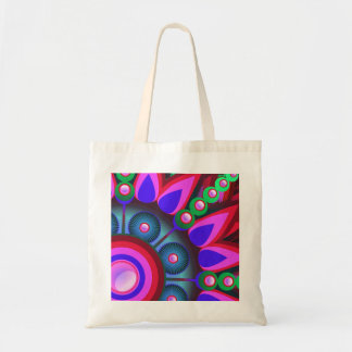 Psychedelic Flower Power Art Tote Bag