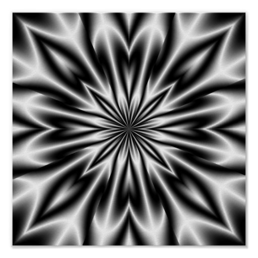 Psychedelic Flower X-Ray Poster