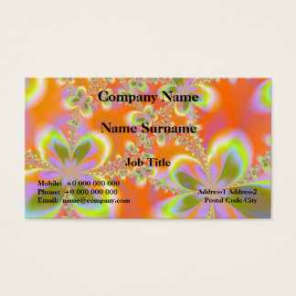 Psychedelic Flowers Card