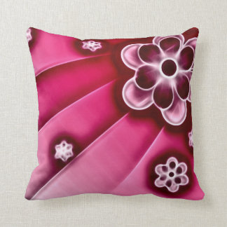 Psychedelic Flowers Fractal Plush Throw Pillow Cushions