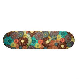 Psychedelic Flowers Skate Deck
