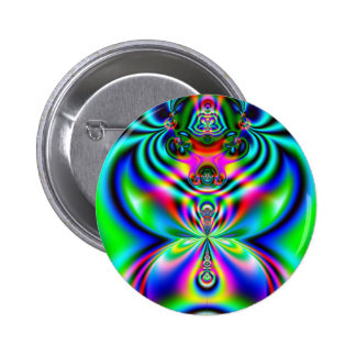 Psychedelic Flutterby 6 Cm Round Badge