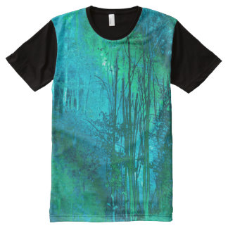 Psychedelic Forest (turquoise-spring green) All-Over Print T-Shirt