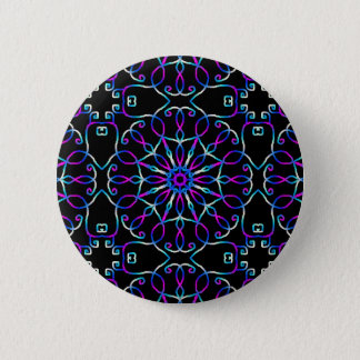 Psychedelic Foret Fairy swipes in 6 Cm Round Badge