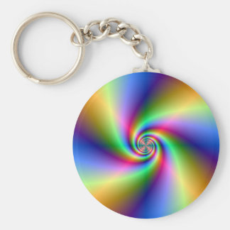 Psychedelic Four Wind Spiral Key Chain
