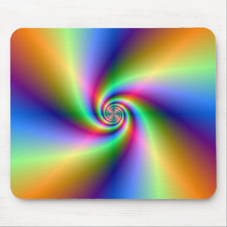 Psychedelic Four Wind Spiral Mousepad