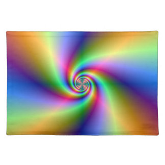 Psychedelic Four Wind Spiral  Placemats