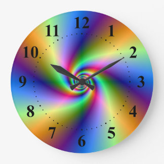 Psychedelic Four Wind Spiral Wall Clock