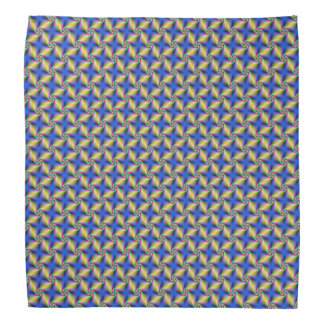 Psychedelic Four Winds Spiral tiled Bandana