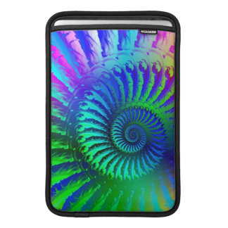 Psychedelic Fractal Blue Pattern Sleeve For MacBook Air