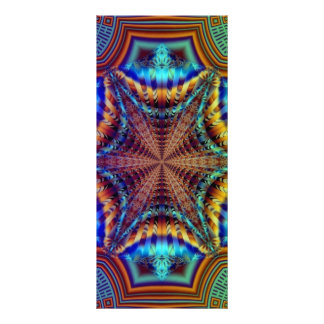 Psychedelic Fractal Bookmarks Rack Card
