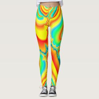 Psychedelic fractal colorful custom leggings