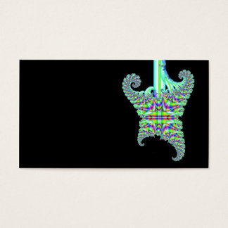 Psychedelic fractal guitar business card