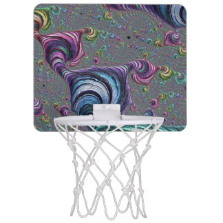 Psychedelic Fractal Mini Basketball Hoop