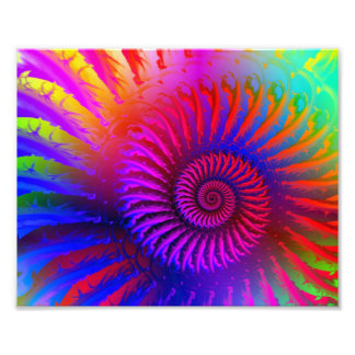 Psychedelic Fractal Pink Pattern Photographic Print