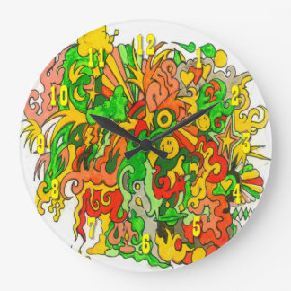 Psychedelic Fun Large Clock
