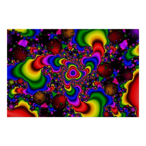 Psychedelic Galaxy Poster