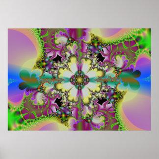 psychedelic garden 2 print