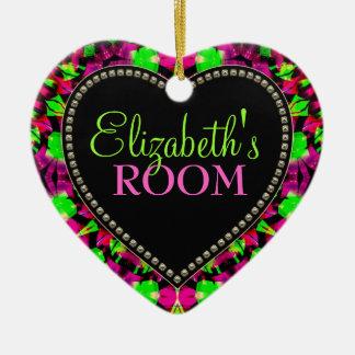 Psychedelic Girl Your Room Door Heart Ornament