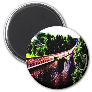 psychedelic Girona bridge wall, Spain Magnet