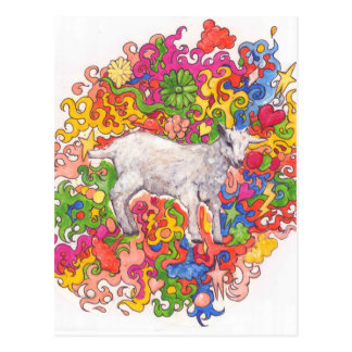 Psychedelic Goat Postcard