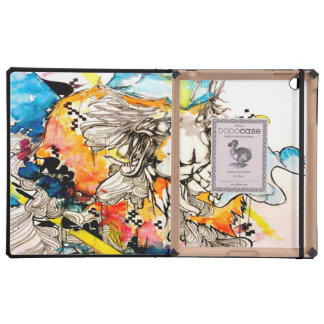 psychedelic graffiti street art, monkey art iPad covers