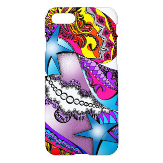 Psychedelic graphic on iPhone 7 glossy case