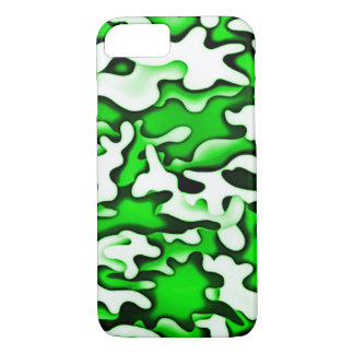 Psychedelic Green Gas Abstract Art iPhone 7 Case