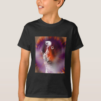 Psychedelic Grunge African Grey Parrot T-Shirt