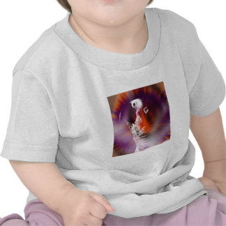 Psychedelic Grunge African Grey Parrot Shirts