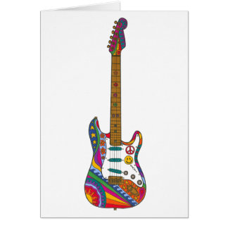 Psychedelic Guitar Card