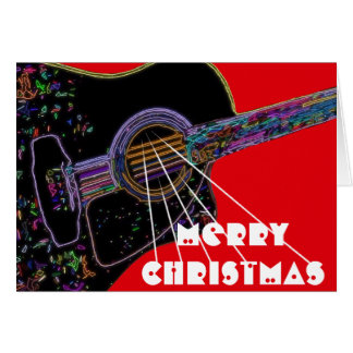 Psychedelic Guitar Christmas Card
