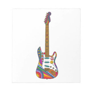 Psychedelic Guitar Notepad