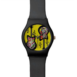 Psychedelic Guitars on Yellow Paint Watch