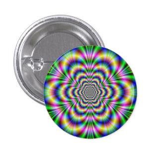 Psychedelic Hexagon Button