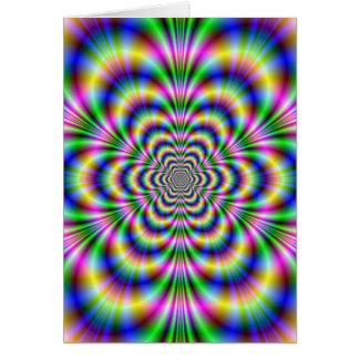 Psychedelic Hexagon Card