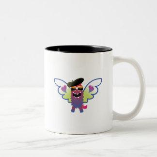 psychedelic hippie angel monster coffee mug