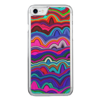 Psychedelic Hippy Blue Carved iPhone 8/7 Case