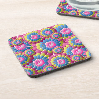 Psychedelic Hippy Flower Power Coaster