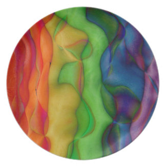 Psychedelic Hippy Rainbow Acid Trip Plate